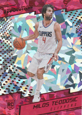 Milos Teodosic RC, Chinese New Year Cracked Ice, 2017-18 Panini Revolution Basketball