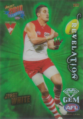 Jesse White, Revelation Gem, 2010 Select AFL Champions
