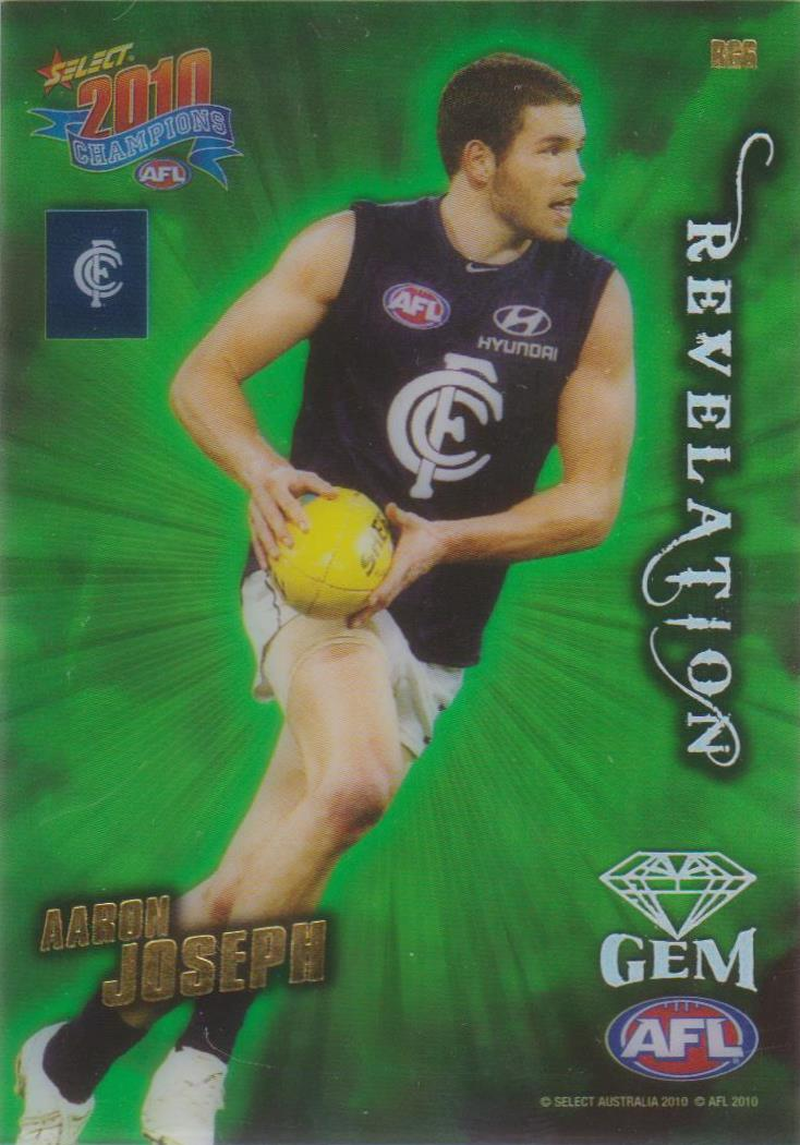 Aaron Joseph, Revelation Gem, 2010 Select AFL Champions