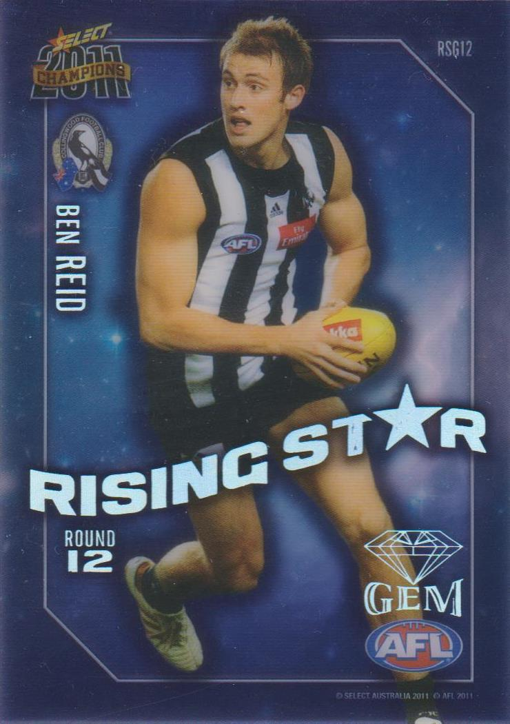 Ben Reid, Rising Star Gem, 2011 Select AFL Champions