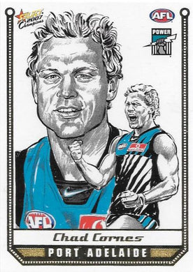Chad Cornes, Sketch card, 2007 Select AFL Champions