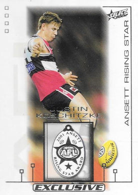 Justin Koschitzke, Medallist, 2002 Select AFL Exclusive