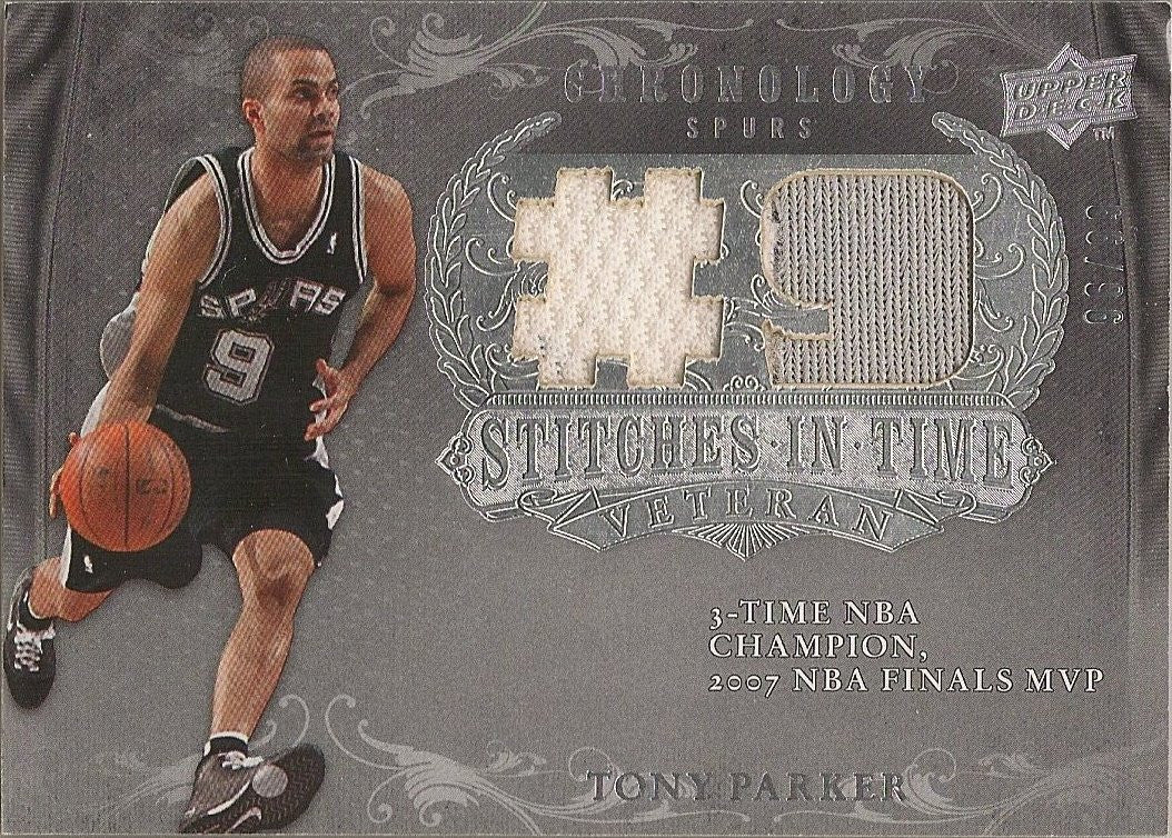 Tony Parker, Stiches in Time, 2007-08 UD Chronology NBA