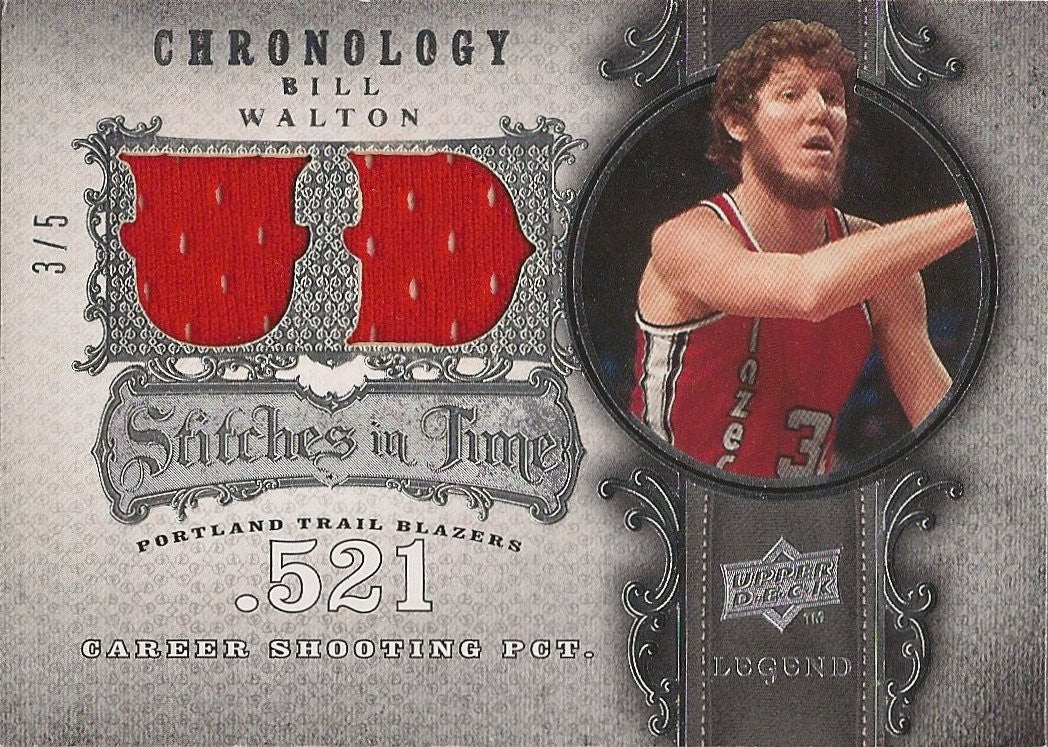 Bill Walton, Stiches in Time, 2007-08 UD Chronology NBA