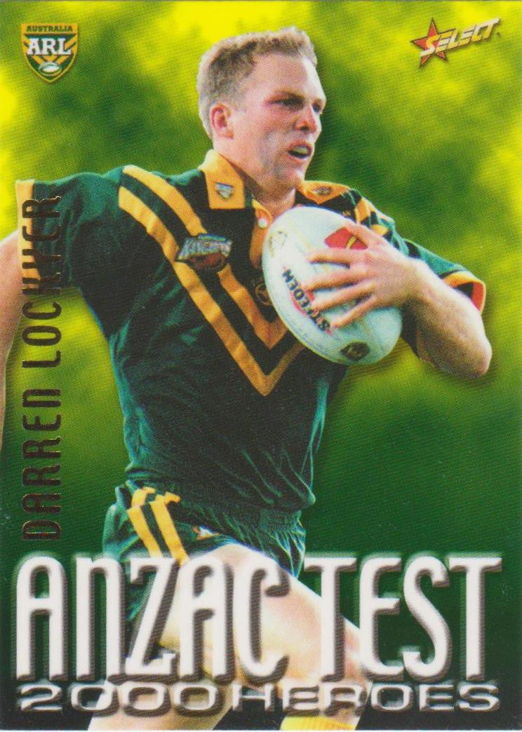 Darren Lockyer, Anzac Test 2000 Heroes, 2000 Select NRL