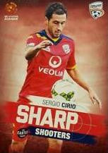 2015-16 Tap'n'play FFA A-League Soccer, Sharp Shooters, Sergio Cirio, # SH-03