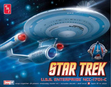 Star Trek Enterprise 1701-C, Plastic Model Kit, 1:2500 Scale