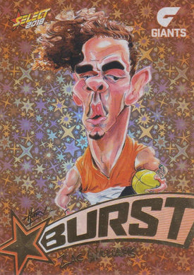 Zac Williams, Starburst Orange Caricatures, 2018 Select AFL Footy Stars