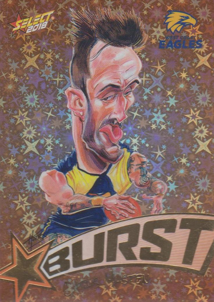 Chris Masten, Starburst Orange Caricatures, 2018 Select AFL Footy Stars