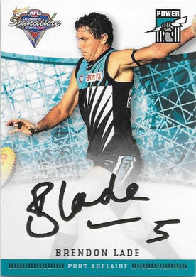 Brendon Lade, Gold Signature, 2007 Select AFL Champions Signature Series