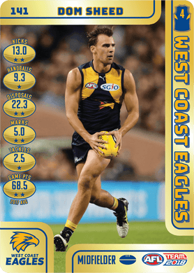 Dom Sheed, Gold, 2018 Teamcoach AFL