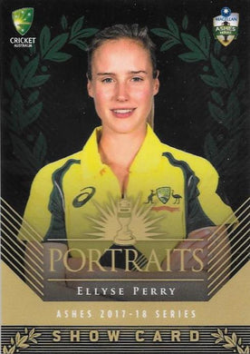 Ellyse Perry, Portraits Show card, 2017-18 Tap'n'play CA BBL 07 Cricket
