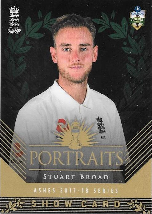 Stuart Broad, Portraits Show card, 2017-18 Tap'n'play CA BBL 07 Cricket
