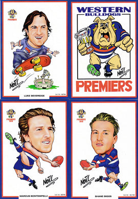 2017 Western Bulldogs Premiers card set by Noel