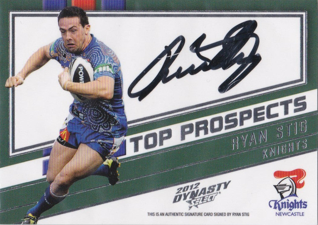 2012 Select NRL Dynasty, Top Prospects Signature, Ryan Stig