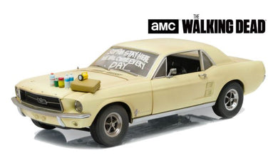 The Walking Dead, 1967 Ford Mustang Coupe, Sophia Message, 1:18 Diecast Model Car