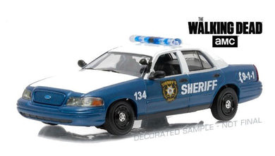 The Walking Dead, Rick & Shane's 2001 Crown Victoria Police Interceptor, 1:43 Diecast Model Car