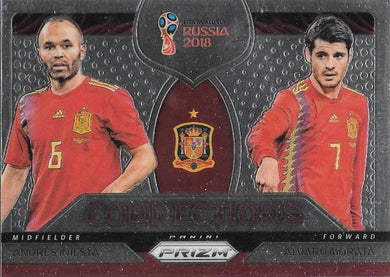 Iniesta & Morata, Connections, 2018 Panini Prizm World Cup Soccer