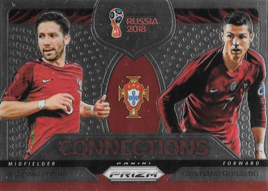 Moutinho & Ronaldo, Connections, 2018 Panini Prizm World Cup Soccer