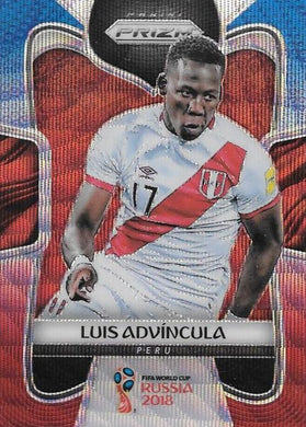 Luis Advincula, Blue & Red Refractor, 2018 Panini Prizm World Cup Soccer