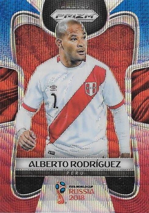 Alberto Rodriguez, Blue & Red Refractor, 2018 Panini Prizm World Cup Soccer