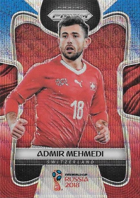 Admir Mehmedi, Blue & Red Refractor, 2018 Panini Prizm World Cup Soccer