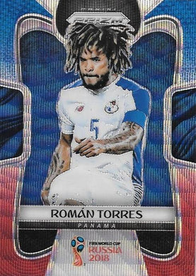 Roman Torres, Blue & Red Refractor, 2018 Panini Prizm World Cup Soccer