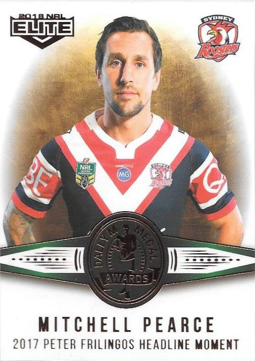 Mitchell Pearce, Medal card, 2018 TLA esp Elite NRL