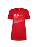 """Definition Of A Jewel Shirt""- Red (White Words)"