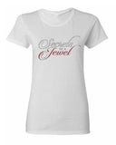 """Secrets Of A Jewel Shirt""- White"