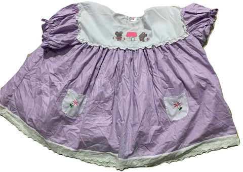 Lil Mouse Embroidered Baby Doll Dress