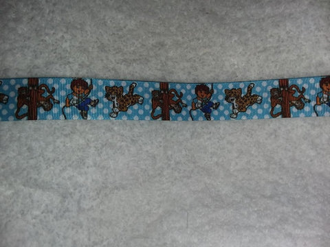 "2000'S CARTOON BOY Hand Crafted Pacifier Dummy Clip - 10""-12"""