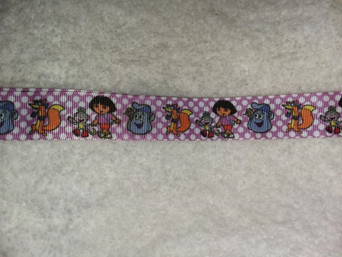 "2000'S CARTOON Girl Hand Crafted Pacifier Dummy Clip - 10""-12"""
