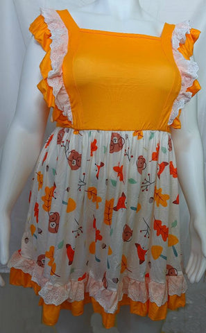 Lil Bears Fall Dress CLEARANCE size xxs  only