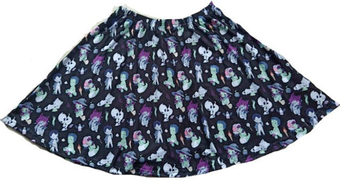 DISCONTINUED Tiny Terrors Black Skaters Skirt DESIGNED BY KEROKEROKOUHAI Clearance