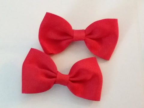 "Mini Solid Color Boutique 2 pc 2.5"" hair bows set"