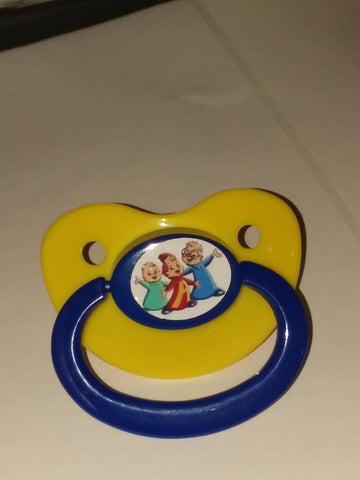 80's Cartoon Chipmunks Pacifier cp1532