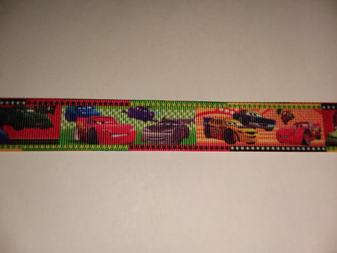 "Movie Race Cars Hand Crafted Pacifier Dummy Clip - 10""-12"""