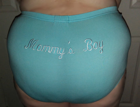 "DISCONTINUED New Mommy's Boy Embroider Cotton Bloomers ""On BACK"" Shorts Clearance"