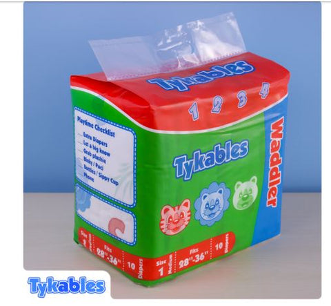 Tykables Waddler ABDL Adult Diaper -1 Single Diaper Sample