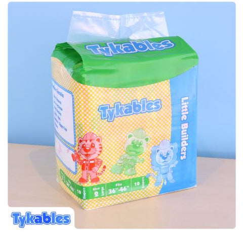 Tykables Little Builders ABDL Adult Diaper -1 Single Diaper Sample