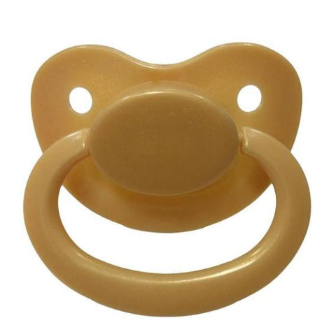 Gold New Large Sparkle Color Adult Pacifier