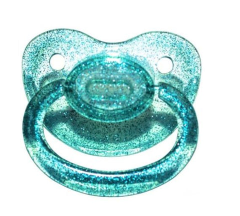 Clear Blue Sparkle New Large Sparkle Color Adult Pacifier