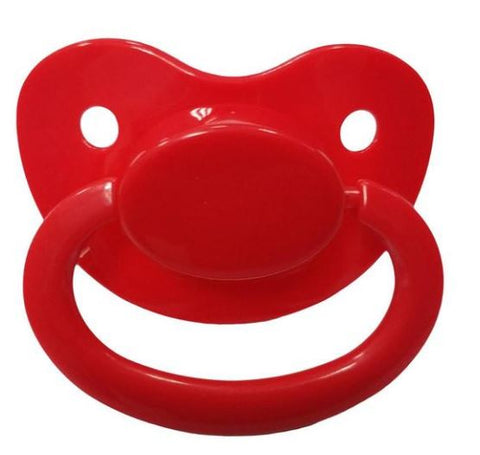 Red New Large Plain Color Adult Pacifier