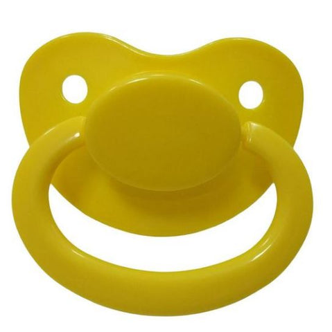 Yellow New Large Plain Color Adult Pacifier