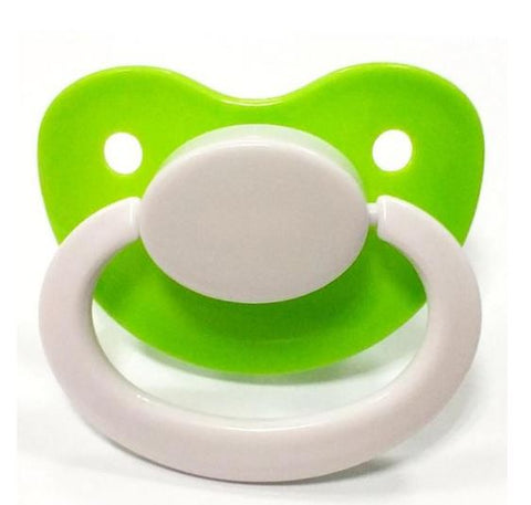 Green/White New Large Plain Color Adult Pacifier