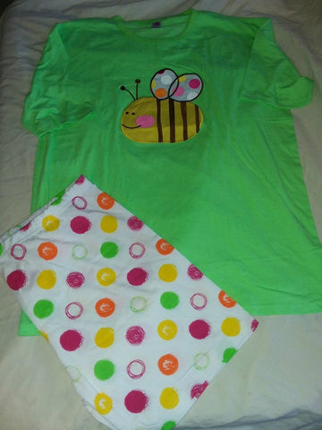 DISCONTINUED Lil Bumble Bee Cotton 2pc pajamas short SET Style #2 Clearance