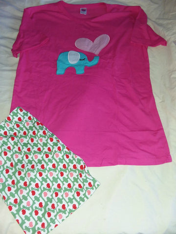 Elephants Cotton 2pc pajamas short SET Style #2