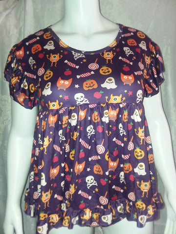 Romper Dress DISCONTINUED Lil' Spooky Halloween Romper Bodysuit Dress XS Clearance