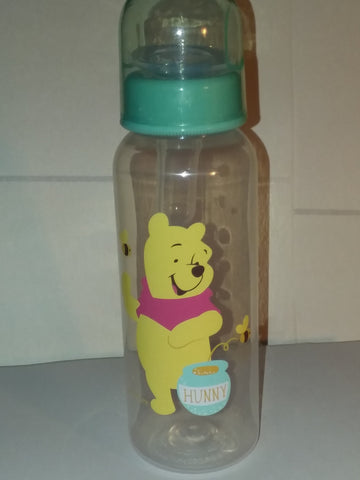 New Pooh Bear 9oz Baby Bottle with ADULT Teat